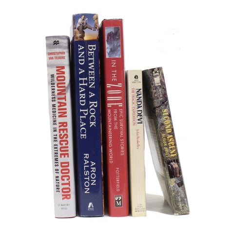 5 Assorted Mountaineering Survival Books Grab Bag