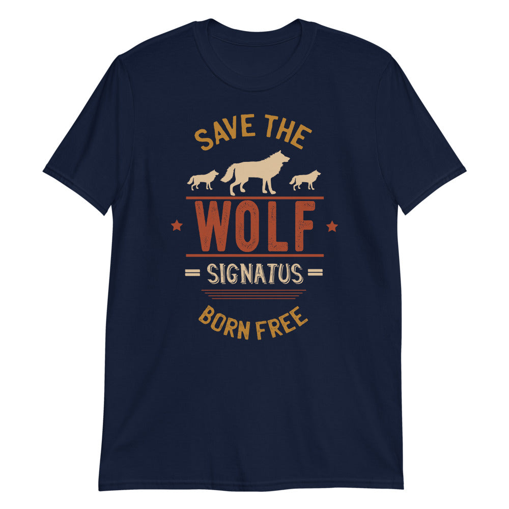 Camiseta Save the wolf signatus