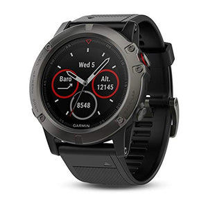"Garmin 010-01733-01 1.2"" Fenix 5X Sapphire - Slate Gray with Black Band (EMEA) Brand New-Men Watch-Best Deals & Beyond"