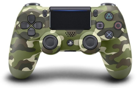Sony Dualshock 4 Controller (NEW VERSION 2) - Green Camouflage/PS4 - Best Deals & Beyond