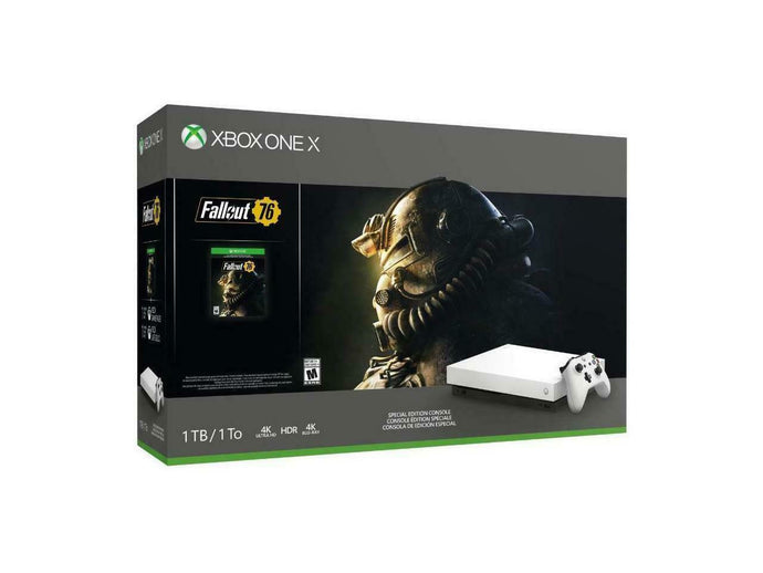 Microsoft Xbox One X 1TB Fallout 76 Console Bundle - Robot White Special Edition-Xbox One Console-Best Deals & Beyond
