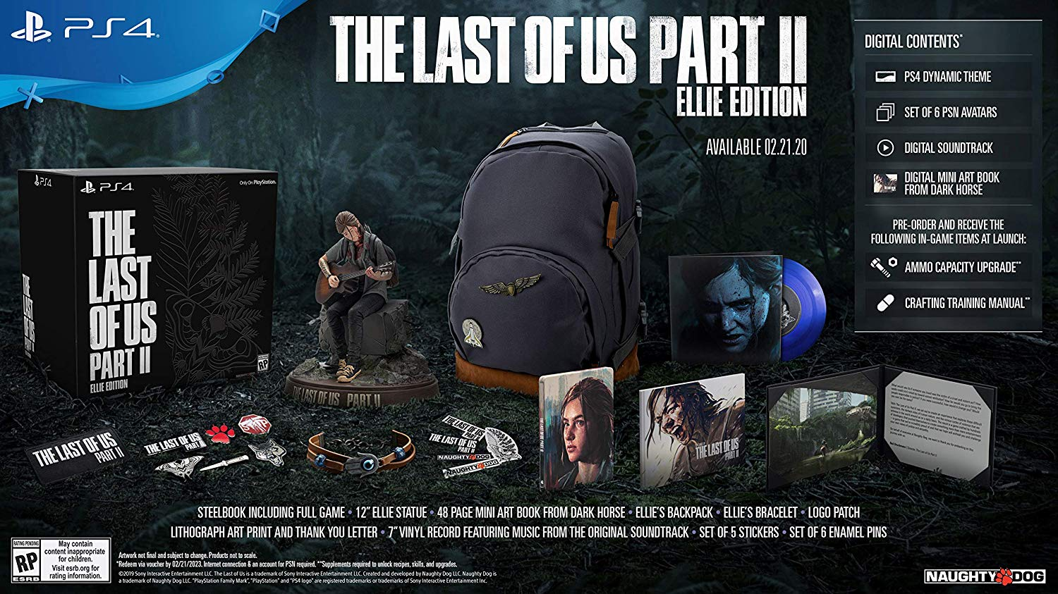 The Last Of Us Part Ii Playstation 4 Ellie Edition