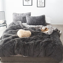 Load image into Gallery viewer, Pure Color Mink Velvet Bedding Sets 20 colors Lambs Wool - Best Deals & Beyond