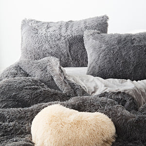Pure Color Mink Velvet Bedding Sets 20 colors Lambs Wool-Best Deals & Beyond