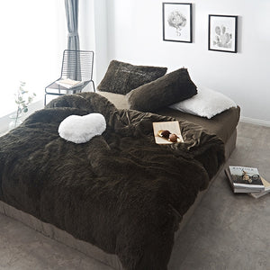 Pure Color Mink Velvet Bedding Sets 20 colors Lambs Wool - Best Deals & Beyond