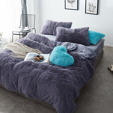 Load image into Gallery viewer, Pure Color Mink Velvet Bedding Sets 20 colors Lambs Wool-Best Deals & Beyond