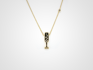 Champagne Flute Necklace