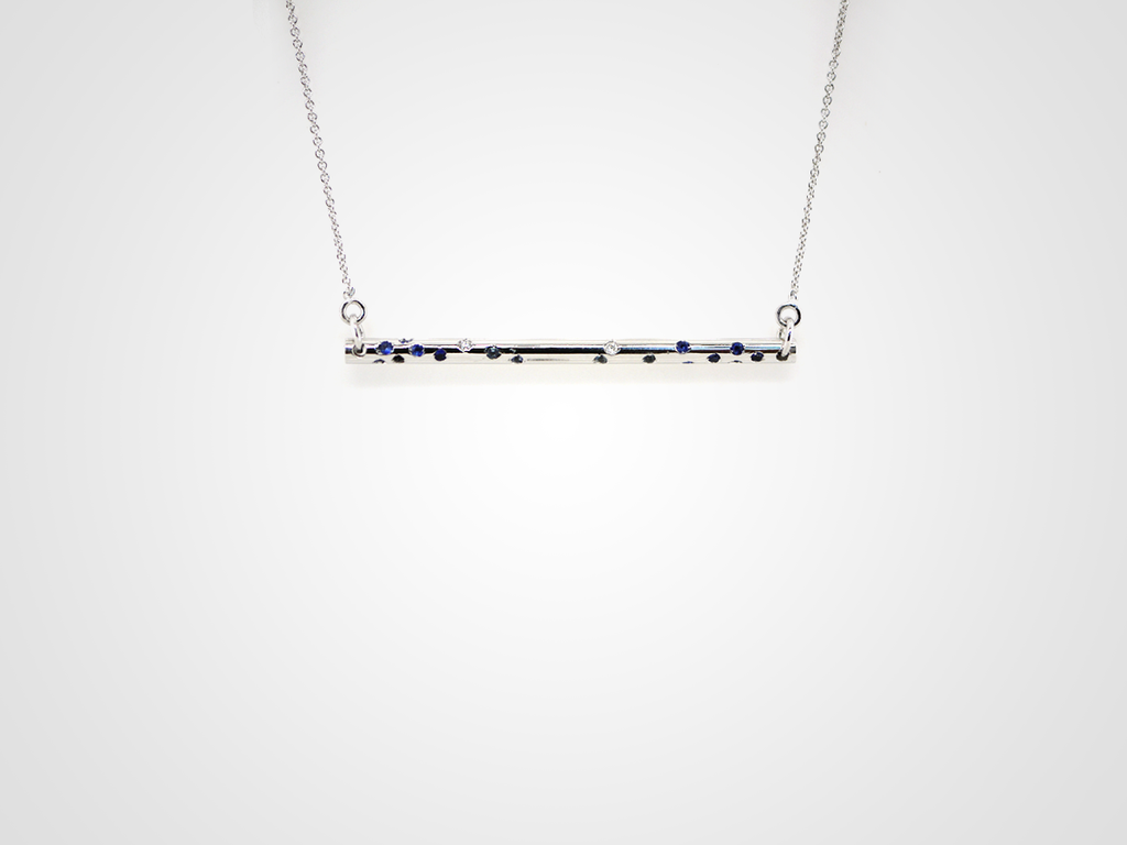 Stretto Blue Necklace
