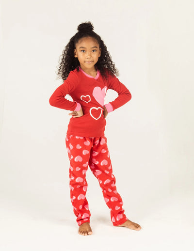 Kids Hearts Fleece Set