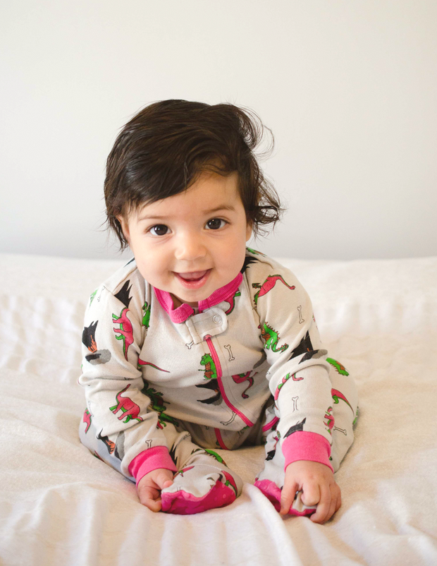 Baby Footed Dinosaur Pajamas