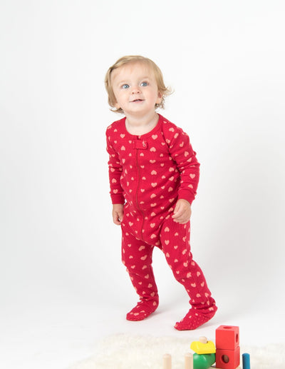 Baby Footed Hearts Pajamas
