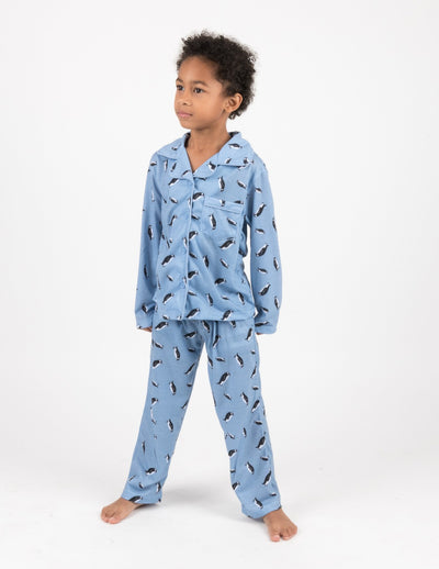 Kids Penguin Flannel Pajamas