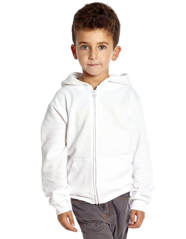 Zipper Cotton Hoodie Neutrals