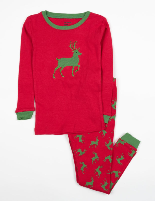 Moose & Reindeer Cotton Pajamas