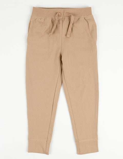 Solid Neutral Color Drawstring Pants