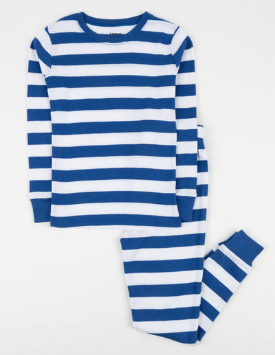 Kids Blue & White Stripes Pajamas