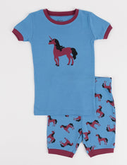 Short Sleeve Animals Cotton Pajamas