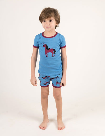 Kids Unicorn Cotton Short Pajamas