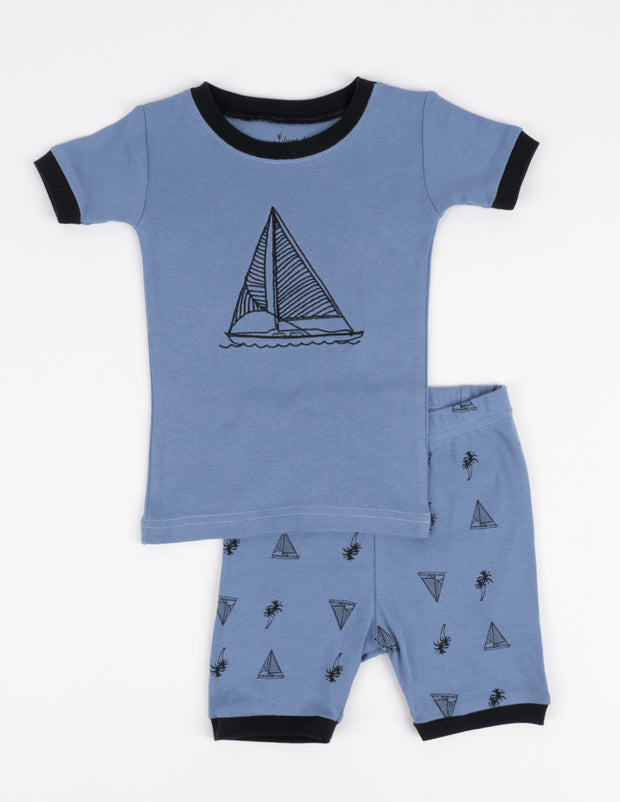 Kids Car, Truck & Boat Short Pajamas