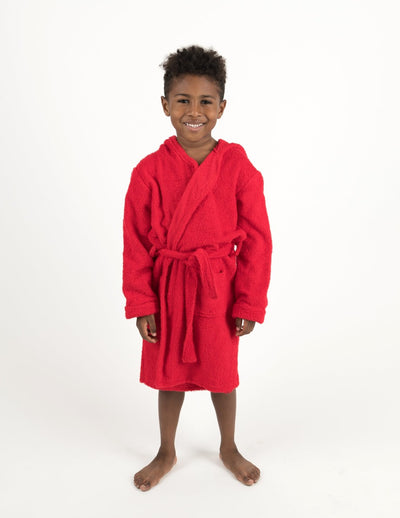Cotton Terrycloth Hooded Bathrobe Colors