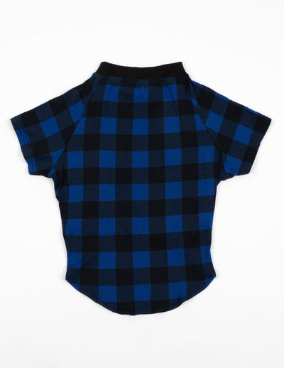 Big Dog Black & Navy Plaid Pajamas