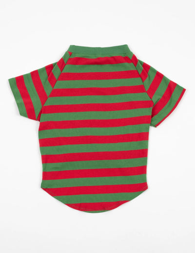 Big Dog Red & Green Stripes Pajamas