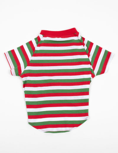 Big Dog Red White & Green Stripes Pajamas