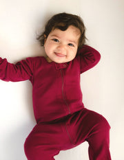 Solid Color Neutral Footed Pajamas