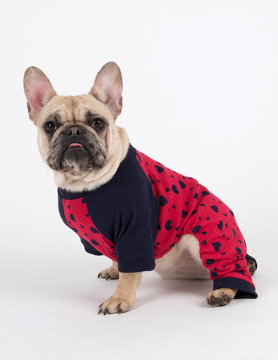 Dog Clearance Dark Navy Hearts Pajamas