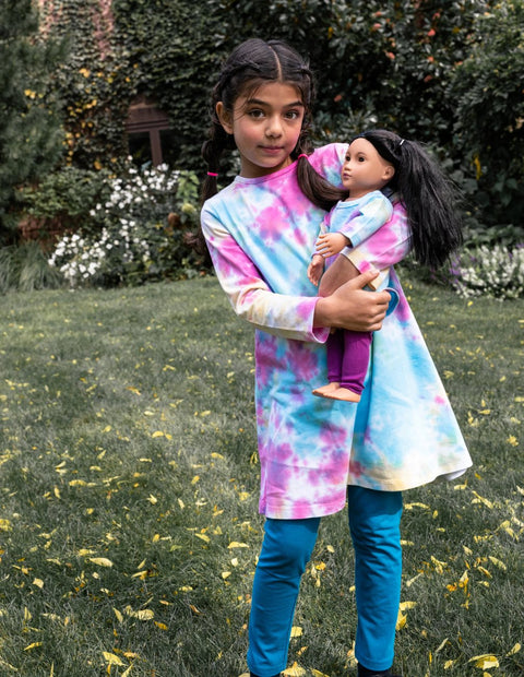 Matching Girl & Doll TieDye Dress