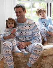 Mens Penguin Cotton Pajamas