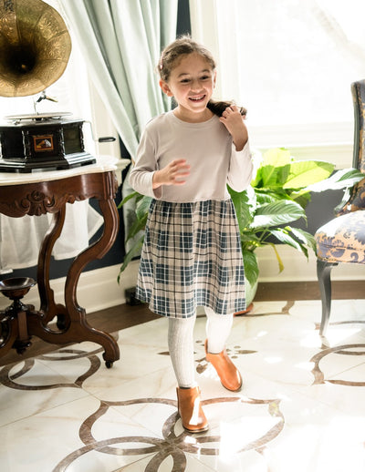 Plaid Cotton Skirt Dress