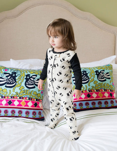 Kids Footed Panda Pajamas