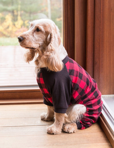 Dog Red & Black Plaid Pajamas