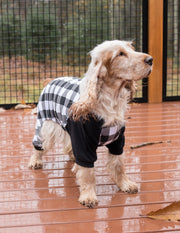 Dog Black & White Plaid Pajamas