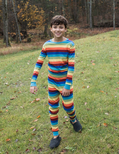Kids Cotton Rainbow Boy Stripes Pajamas