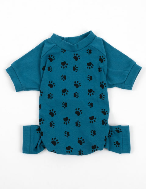 Dog Blue Paw Print Pajamas