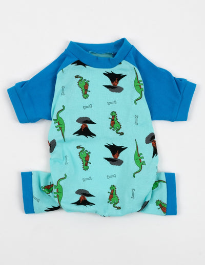 Dog Blue Dinosaur Pajamas