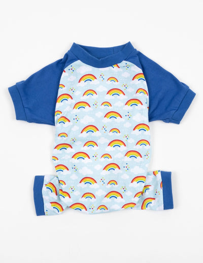 Dog Blue Rainbow Pajamas