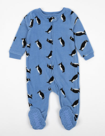 Kids Footed Fleece Penguin Pajamas