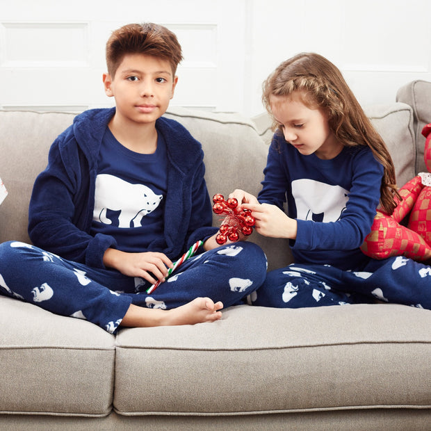 Cotton & Fleece Polar Bear Pajamas