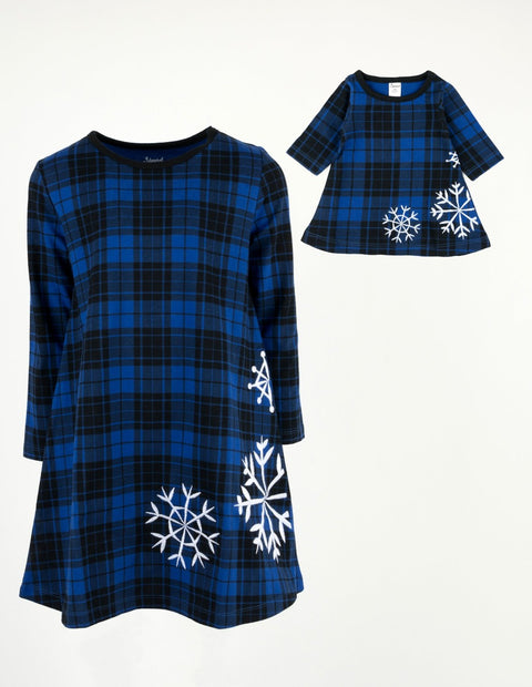 Matching Girl & Doll Winter Cotton Dress