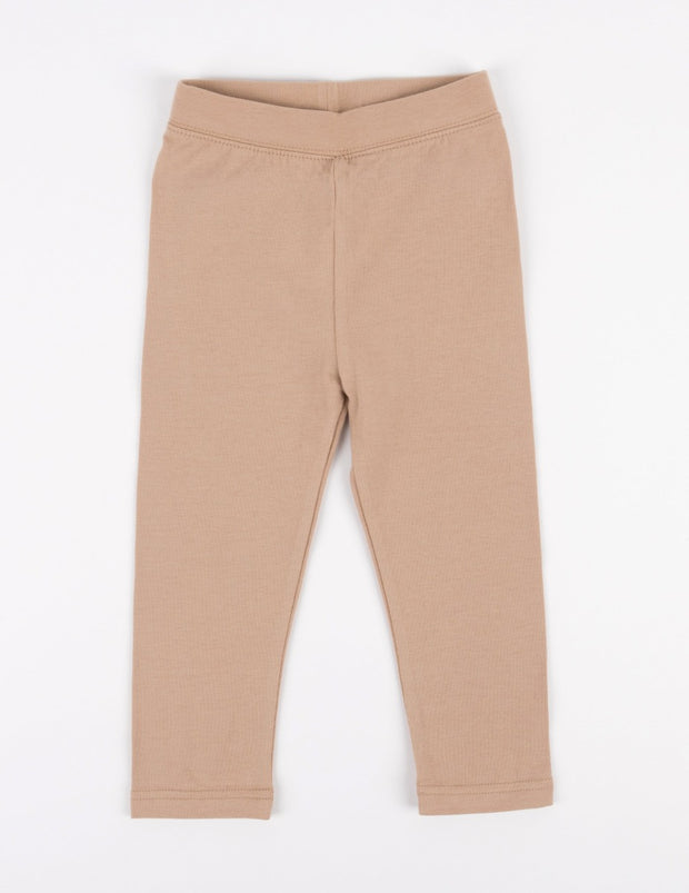Cotton Neutral Solid Color Spandex Leggings