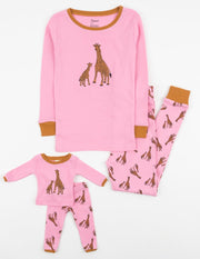 Matching Girl & Doll Zoo Animals Pajamas