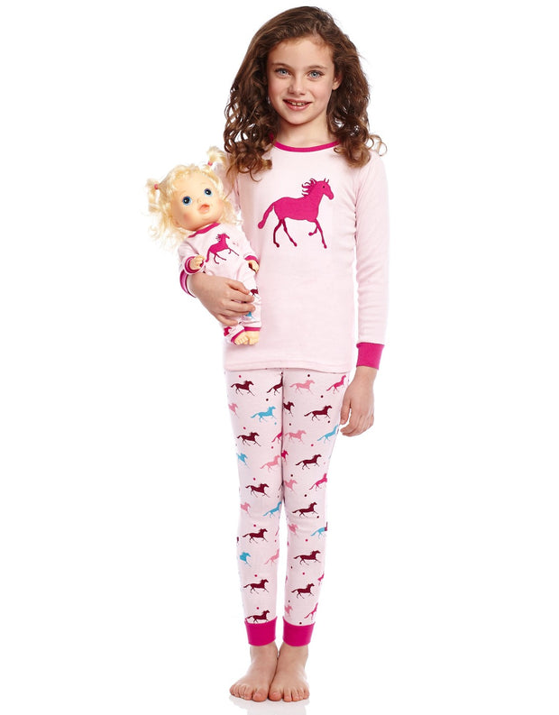 Matching Doll & Girl Show Horse Pajamas