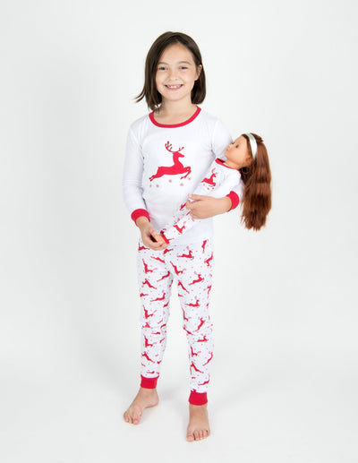 Matching Doll Cotton Winter Themed Pajamas