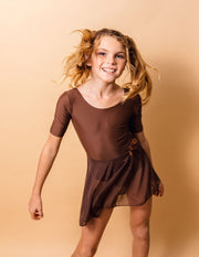 Short Sleeve Skirt Leotard