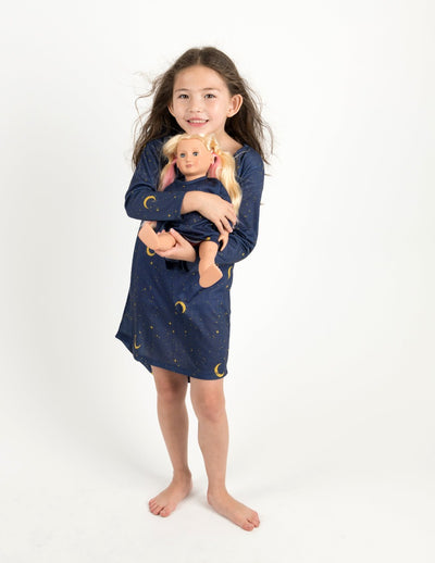 Matching Girl and Doll Moon Nightgown