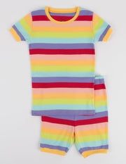 Short Sleeve Rainbow Cotton Pajamas