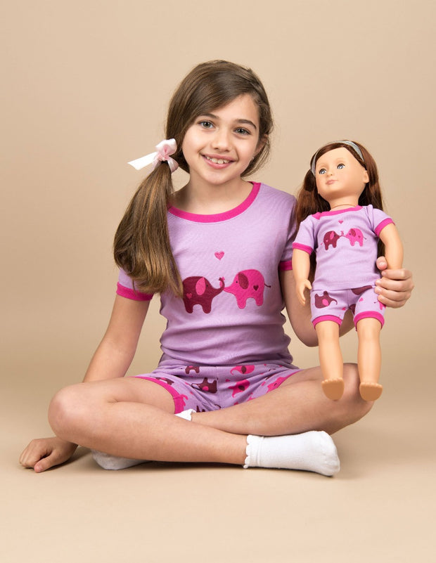 Matching Girl & Doll Short Pajamas